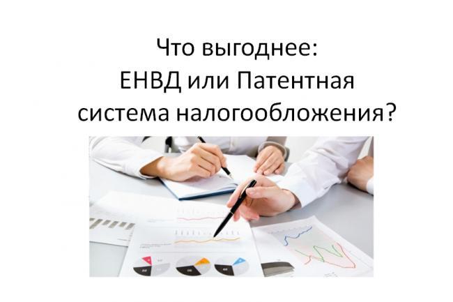 Выбор системы налогообложения ЕНВД или Патент 1 - kwork.ru