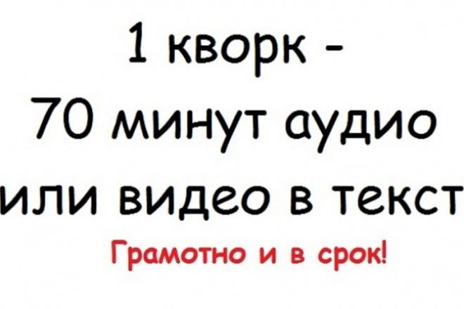 Транскрибация текста, набор текста 1 - kwork.ru
