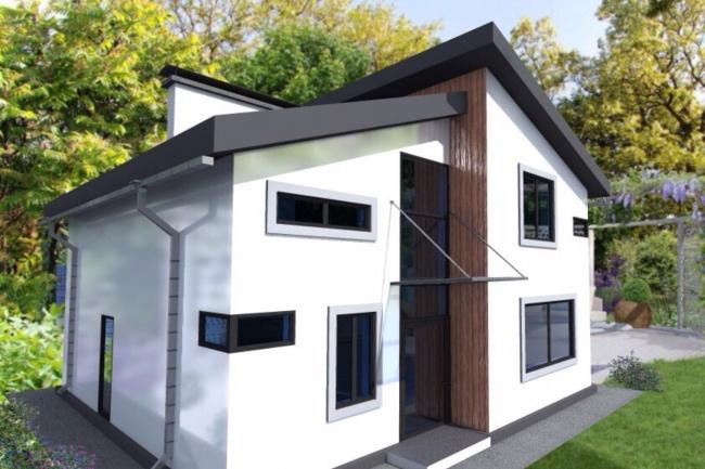 Сделаю 3-д модель дома и визуализацию 1 - kwork.ru