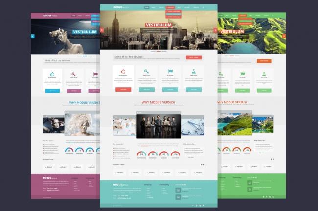 Дизайн одностраничного сайта 1 - kwork.ru
