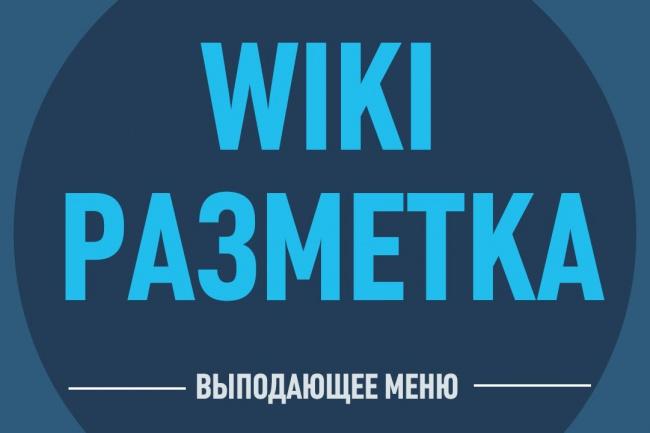 Оформление WIKI меню Вконтакте 2 - kwork.ru