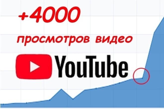4000 просмотров видео на YouTubeПродвижение в социальных сетях<br>Просмотры на youtube – это основной показатель популярности видео, и ключ к его успеху, поэтому оказываю помощь с просмотрами на YouTube. Гарантирую 4000 просмотров. - Просматривают живые люди с уникальных IP; - Безопасно для партнерок; - Есть возможность показывать видео по выбору возраста и/или пола; - Грамотное распределение просмотров за длительный период времени, чтобы не вызывать подозрений системы отслеживания; Так же оказываю дополнительные услуги по продвижению вашего канала на YouTube. Заказ подписчиков с гарантией того, что отпишутся не более 20% от заказанного числа в течении 1 месяца.<br>