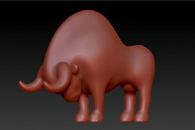 3D фигуркаФлеш и 3D-графика<br>Создам 3д фигурку. Это может быть стилизованная модель человека, животного, предмета. Полученный файл можно распечатать. Такая фигурка может стать подарком, сувениром, элементом стиля или дизайна.<br>