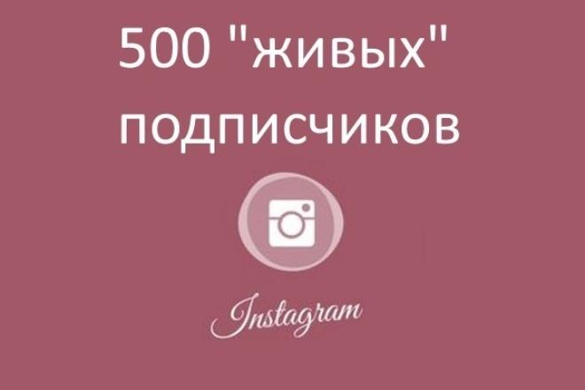 """500 """"живых"""" подписчиков в instagram 1 - kwork.ru"""