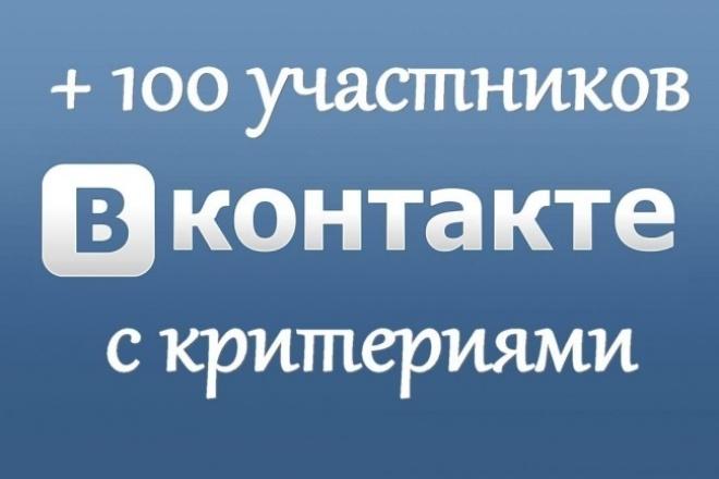 100 живых участников в группу ВК учитывая таргетинг и возраст 1 - kwork.ru