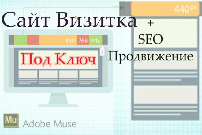 Создам сайт-Визитку под ключ плюс СЕО продвижение 1 - kwork.ru