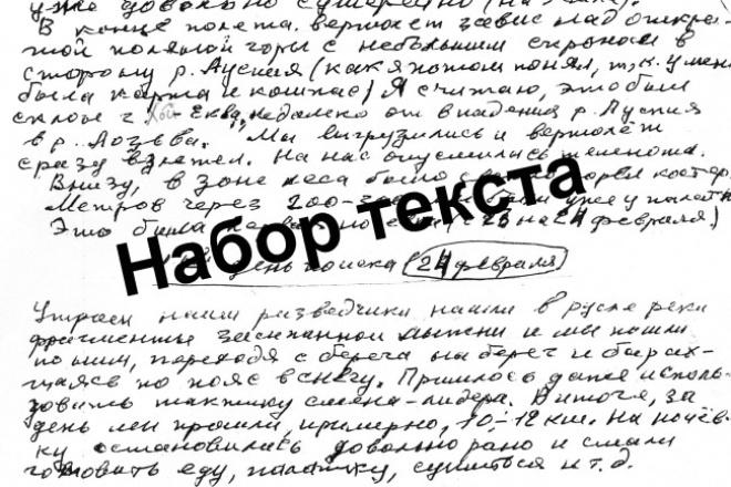 Наберу текст + корректура 1 - kwork.ru