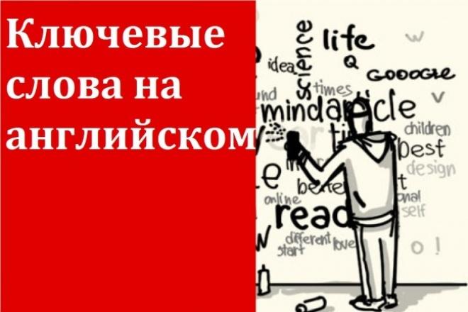 Составлю семантическое ядро англоязычного сайта 1 - kwork.ru