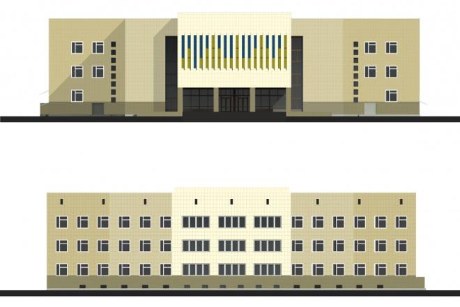 оформление здания 1 - kwork.ru