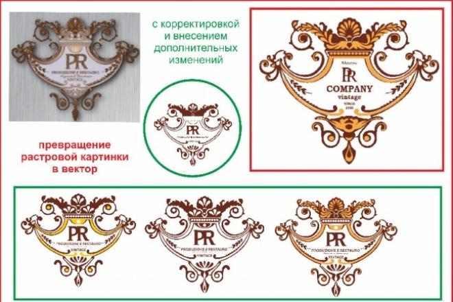 превращу в вектор, доделаю, переделаю или создам новый 1 - kwork.ru