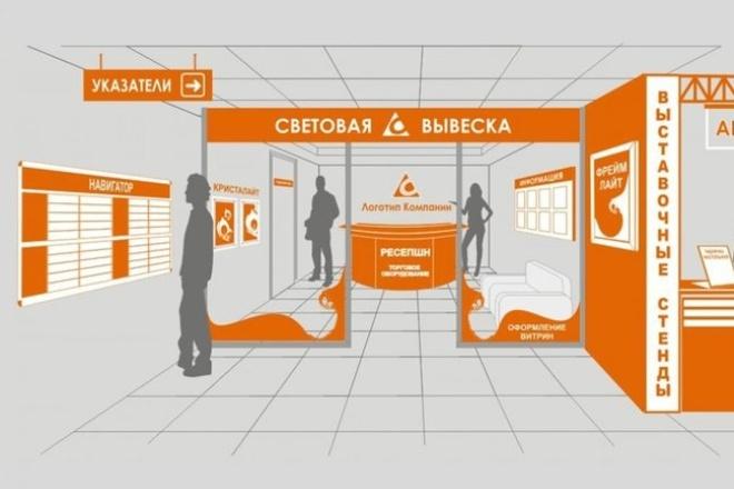 Дизайн внутренней и наружной рекламы(рекламные щиты ,вывески, постеры, афиши) 1 - kwork.ru