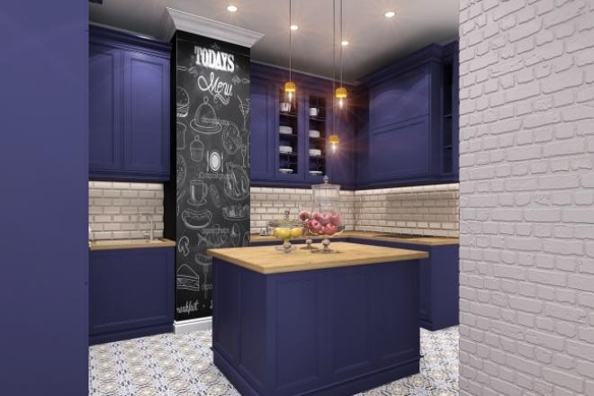 Дизайн-проект интерьера домашнего, коммерческого. Реализуемо 1 - kwork.ru