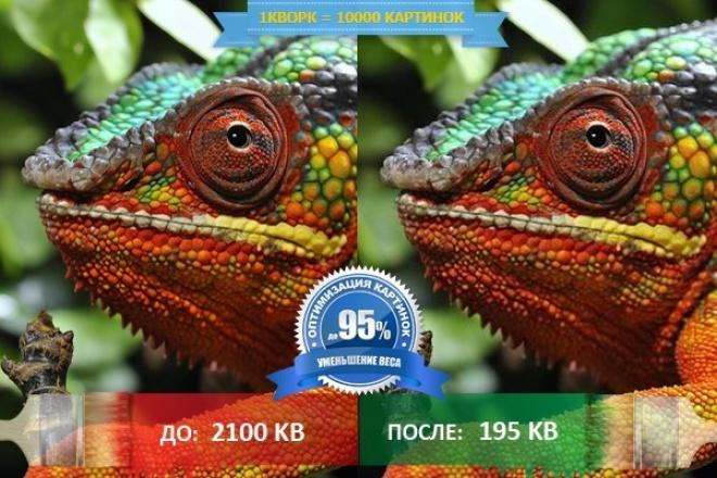 Оптимизация картинок - уменьшение веса  - без потери в качестве 1 - kwork.ru