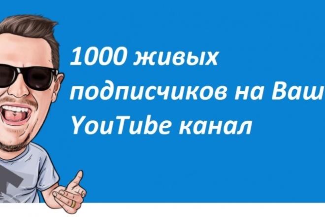 Приведу 1000 живых подписчиков на YouTube каналПродвижение в социальных сетях<br>Всех приветствую. Если вы начинающий ютубер, то наверное всегда задавались вопросом, а что будет, когда я достигну отметки, к примеру в 1000 подписчиков? Всё элементарно, Ватсон. Вас начнут смотреть больше людей и соответственно больше подписываться. В этом кворке я предлагаю привести на Ваш YouTube канал 1000 живых подписчиков, тем самым дать Вам хороший толчок в развитии будущего, возможно очень многообещающего канала. В дополнительных опциях я укажу услуги, которые Вы можете приобрести с этим кворком, такие как : лайки на Ваш канал, просмотры и комментарии. WARNING Так как на Вас будут подписываться живые люди, процент отписок составит не более 5%. И напоследок выделю плюсы данного кворка и дополнительных опций : ? Отличная возможность для нового канала. ? Процент отписок не более 5. ? Быстрое выполнение работы(5-6 дня) ? Хороший рост просмотров + числа вступивших ? Гарантия высокого качества выполнения работы ? Никаких конфликтов с сетью YouTube ? Безопасный режим работы (подходит для любых партнерок)<br>