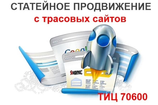 Статейное продвижение 1 - kwork.ru