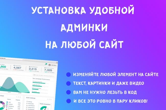 Установлю удобную и легкую админку на сайт 1 - kwork.ru