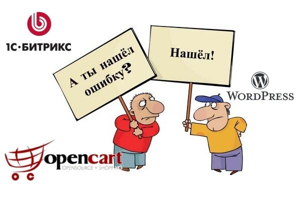 Исправление ошибок на WordPress, Bitrix, OpenCart 1 - kwork.ru