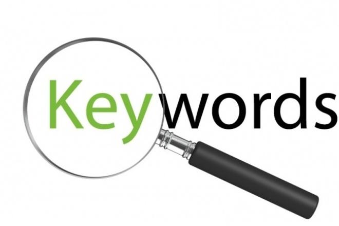 Подбор до 400 ключевых слов при составлении семантического ядраСемантическое ядро<br>Подготовка ключевых слов. Подбор полезных ключевых фраз. Удаление дублей. Чистка пустых фраз. Частотность запросов в месяц.<br>
