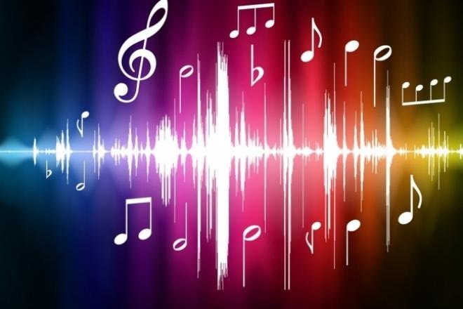 Обработка звукаРедактирование аудио<br>1 кворк = 10 минутам обработанного звука; Сделаю: -склейку двух или более звуковых файла в один; -обрезку ненужного звука; -увеличу или уменьшу уровень громкости на отдельных участках звука; -почищу звук от лишних шумов на выходе дам звук в формате (. mp3 . wav)<br>