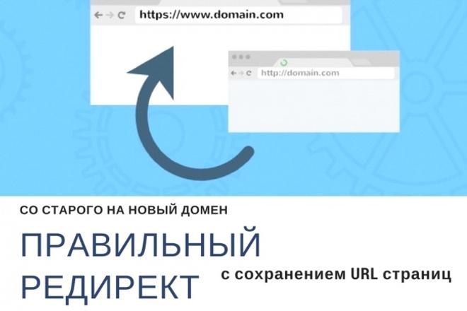 Настрою редирект сайта на другой домен с сохранением url 1 - kwork.ru