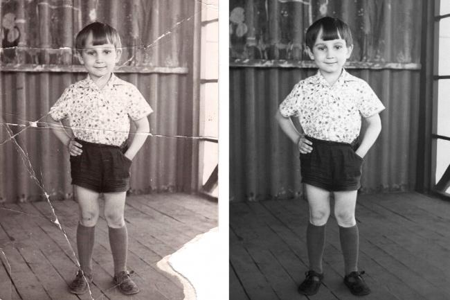 Реставрирую фотоОбработка изображений<br>Реставрация фото, усиление резкости, корректировка цвета. Быстро и качественно. Перед заказом прошу связаться со мной и показать исходное фото.<br>