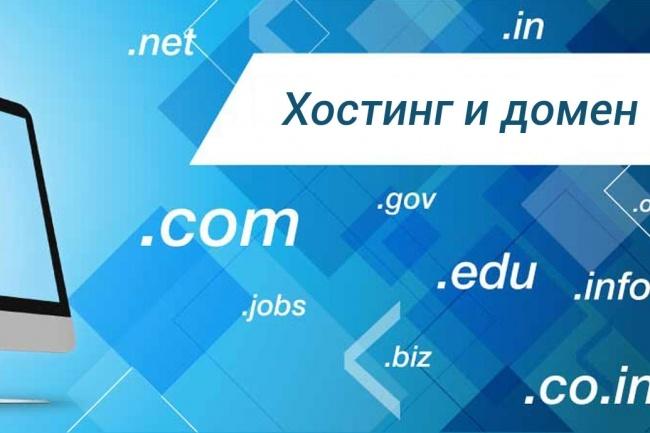 Хостинг и домен за 1 нагрузка на сервер хостинга