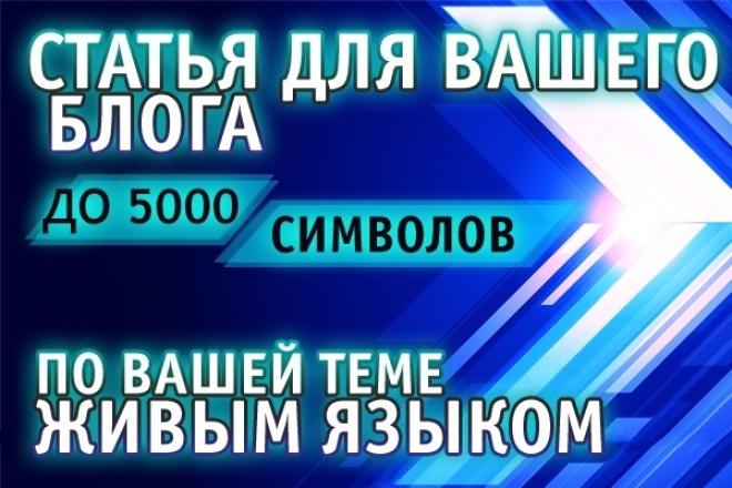 Напишу статью в личный или корпоративный блог 1 - kwork.ru