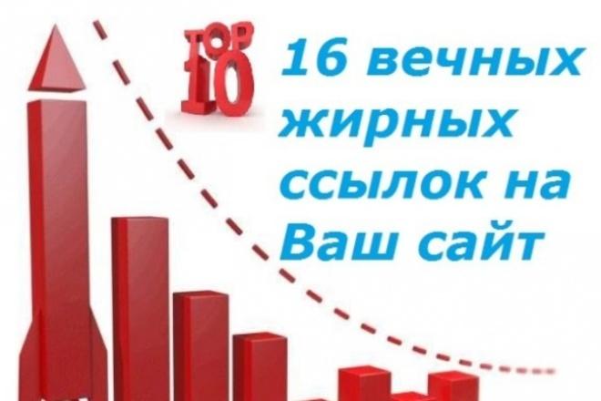 16 вечных жирных ссылок с трастовых сайтов 1 - kwork.ru