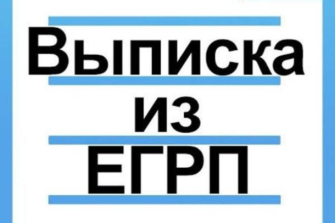 Выписки из егрп, егрюл 1 - kwork.ru