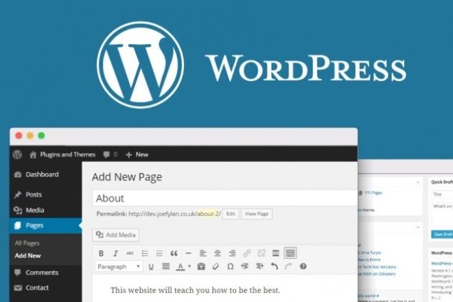 Установлю WordPress (+плагины) 1 - kwork.ru