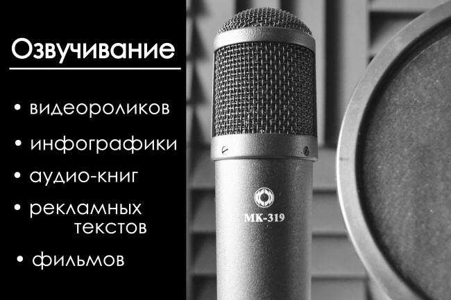 Озвучивание презентаций, текстов рекламы, видеороликов, инфографики 1 - kwork.ru