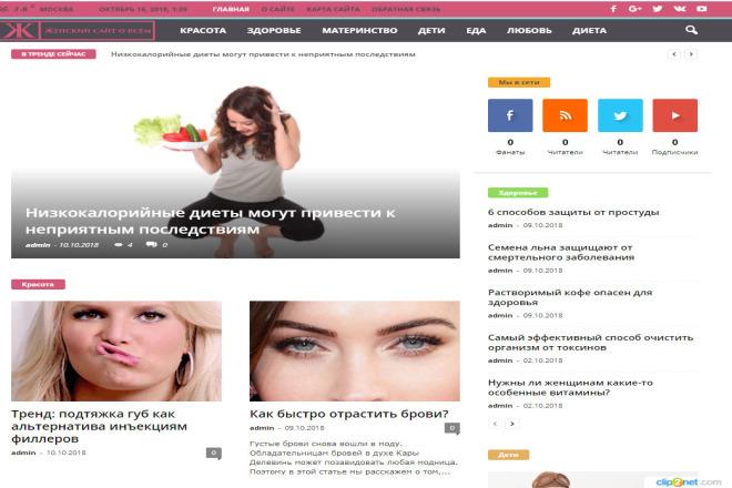 Автонаполняемый Женский портал 8 - kwork.ru