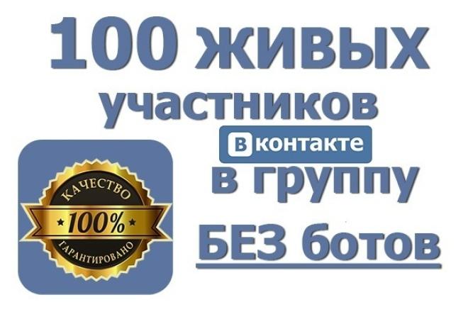 Привлечение живых людей в вашу группу/паблик 1 - kwork.ru