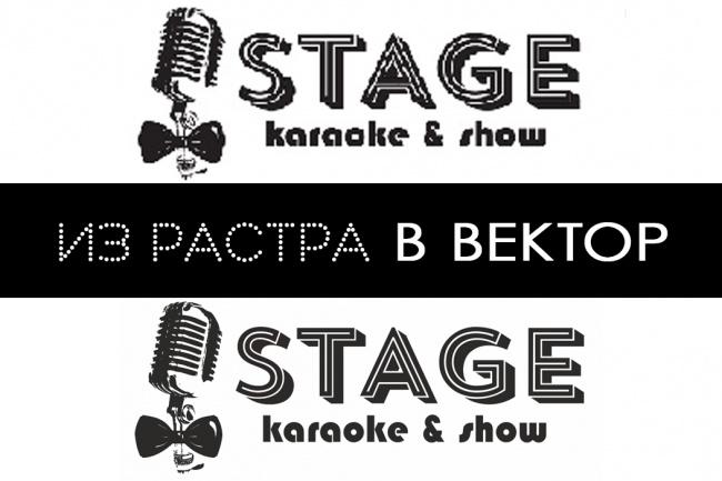 Отрисую Ваш логотип или изображение в векторе 1 - kwork.ru