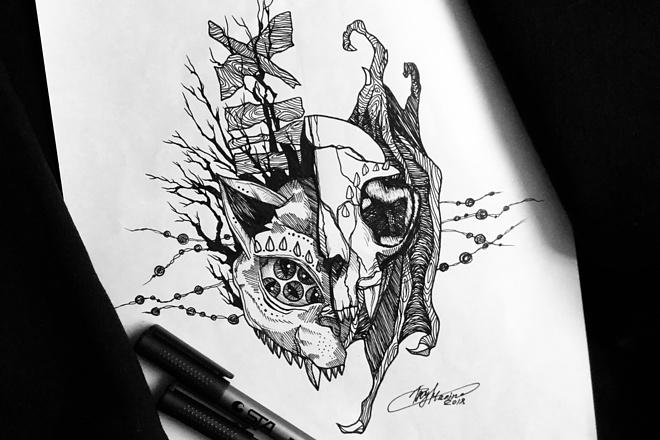 Нарисую эскиз татуировки 1 - kwork.ru