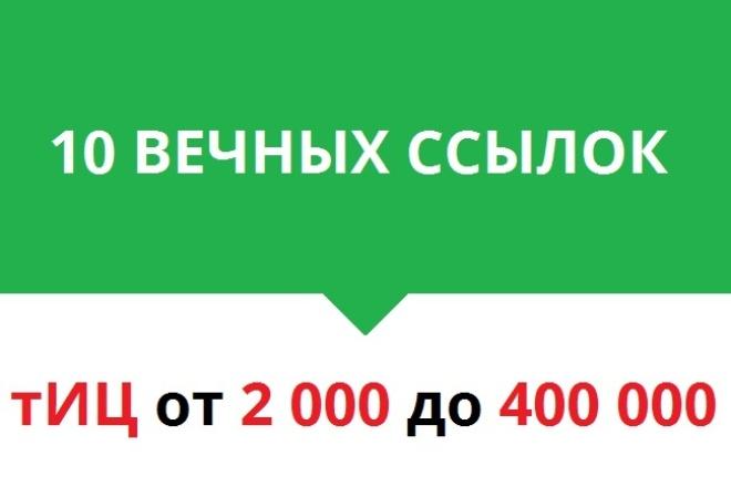 10 вечных ссылок с тИЦ от 2000 до 400000 1 - kwork.ru