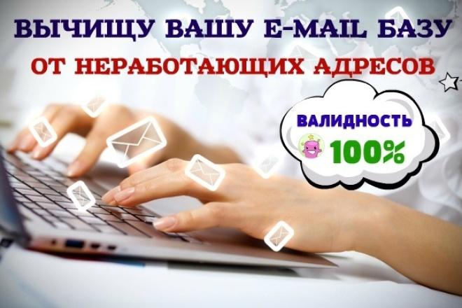 Очищу вашу базу e-mail 1 - kwork.ru