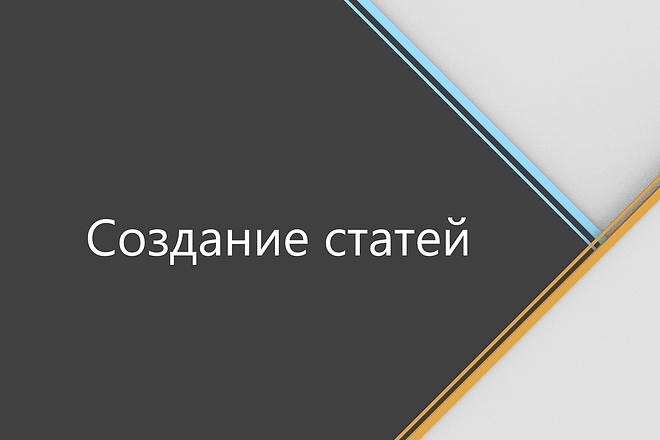 Напишу для вас статью 1 - kwork.ru