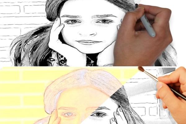 Нарисую вашу фотографию в видео формате mp4 1 - kwork.ru