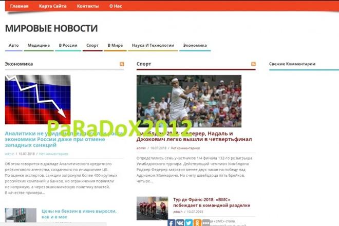 Новости, сми, портал новостей, 3500 статей, автонаполнение + бонус 1 - kwork.ru