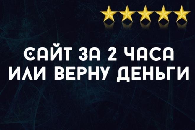 Видео-курс создание сайта за 2 часа 1 - kwork.ru