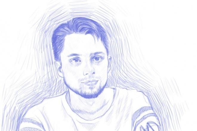Нарисую портретИллюстрации и рисунки<br>Нарисую ваш портрет по фото в цветном или черно-белом варианте, или же в в стиле карандашного рисунка.<br>