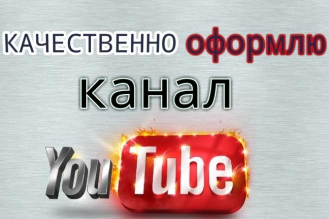 Качественно и красиво оформлю канал на YoutubeДизайн групп в соцсетях<br>Профессионально сделаю оформление для вашего канала на Ютубе(шапку и аватарку)в формате png или jpg( по вашему усмотрению),по вашим требованиям , с использованием описания канала, предоставленного вами.Вы можете вносить неограниченное количество правок,все доработаю в короткие сроки.<br>