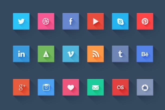 Нарисую Иконки, Кнопки 1 - kwork.ru