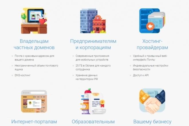 Установлю почту на Вашем доменеАдминистрирование и настройка<br>Для установки требуется логин и пароль от Яндекса или Mail.ru и доступ к DNS домена Вашего регистратора.<br>