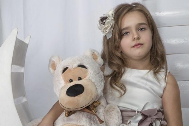 обработка детского портрета 1 - kwork.ru