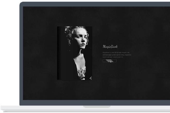 MagicBook -  3D Книга премиум шаблон для WordPress 1 - kwork.ru