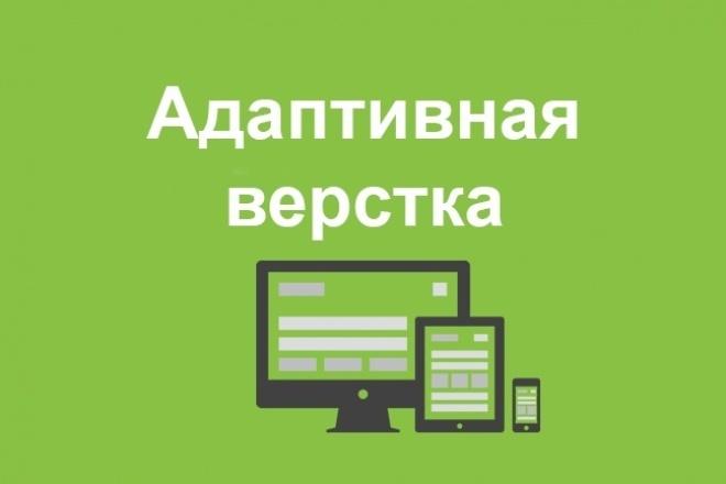 Адаптивная верстка html сайтаВерстка и фронтэнд<br>Делаю адаптивную верстку сайта на html: адаптивная верстка сайта для мобильных телефонов адаптивная верстка сайта для планшетов Заказ выполняется от 2 до 7 дней, зависит от количества страниц и сложности дизайна, и других доп. опций. После выполнения ваш сайт будет удобно отображаться для мобильных устройств.<br>