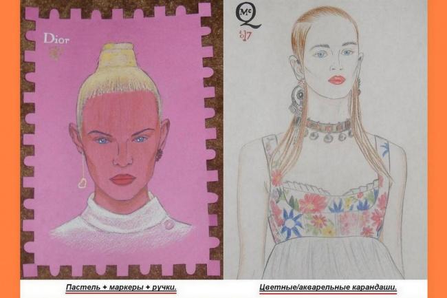 нарисую fashion портрет или иллюстрацию 1 - kwork.ru