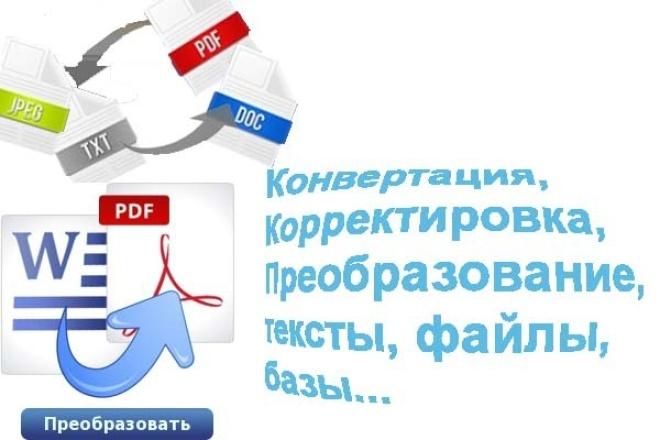 Конвертация dbf, csv, txt  и т.д. файлов в нужный формат 1 - kwork.ru